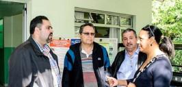 Prefeito Edison, Deputado Artagão Júnior, vereador Jozias e administradora Vanusa da Ilha do Mel