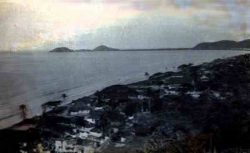 Ilha do Mel Vista do Morro da baleia em 1942 - Foto: Francisco Jusi Neto